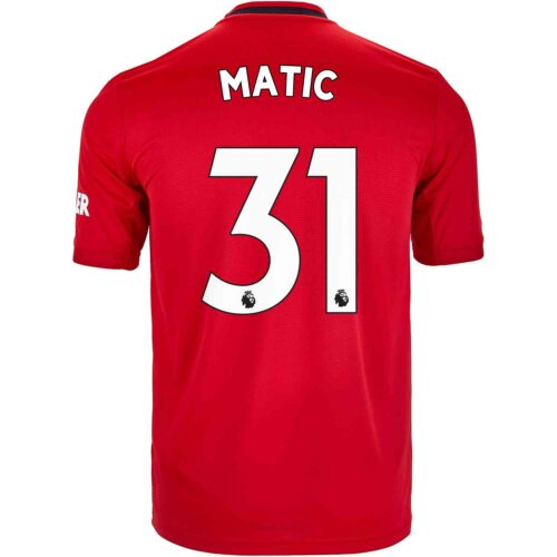 2019/20 Kids adidas Nemanja Matic Manchester United Home Jersey