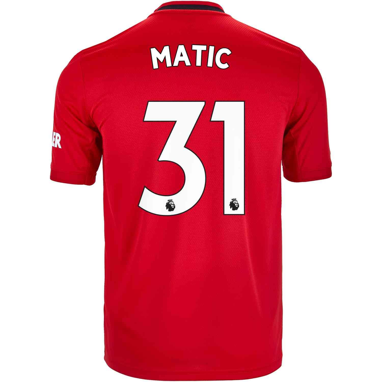 low priced 970fe 0ab3b 2019/20 Kids adidas Nemanja Matic Manchester United Home ...