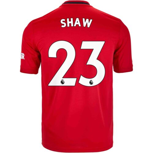 2019/20 Kids adidas Luke Shaw Manchester United Home Jersey