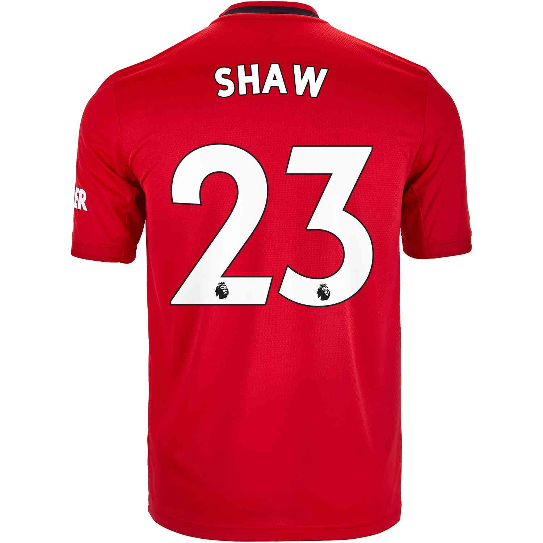2019/20 Kids adidas Luke Shaw Manchester United Home Jersey - SoccerPro
