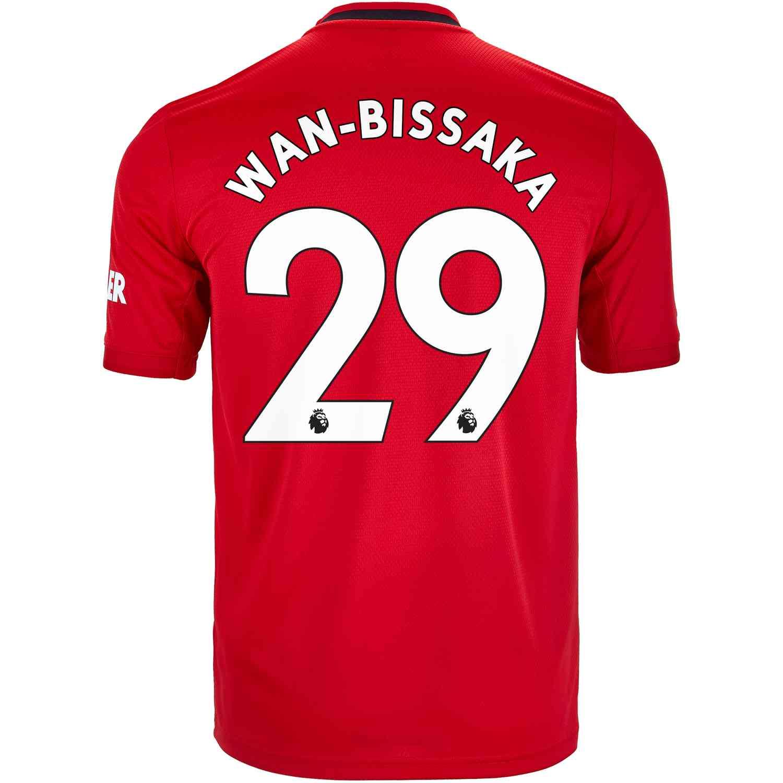 2019 20 Kids Adidas Aaron Wan Bissaka Manchester United Home Jersey Soccerpro