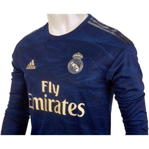 2019/20 adidas Eden Hazard Real Madrid Away L/S Authentic Jersey