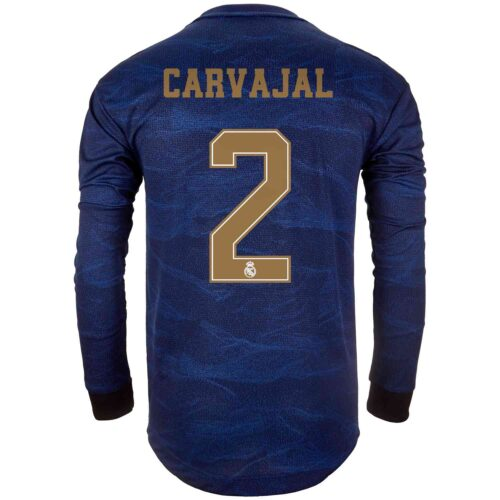 2019/20 adidas Dani Carvajal Real Madrid Away L/S Authentic Jersey