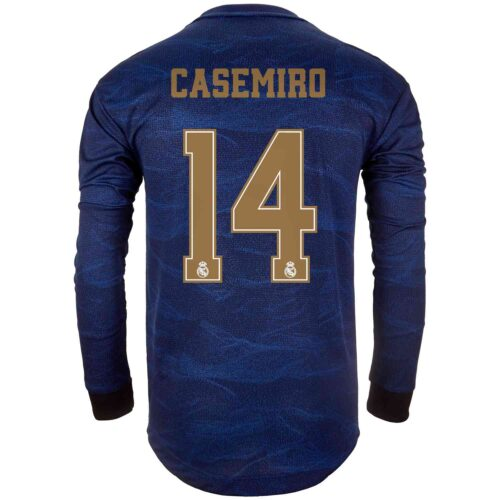 2019/20 adidas Casemiro Real Madrid Away L/S Authentic Jersey