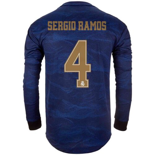 2019/20 adidas Sergio Ramos Real Madrid Away L/S Authentic Jersey