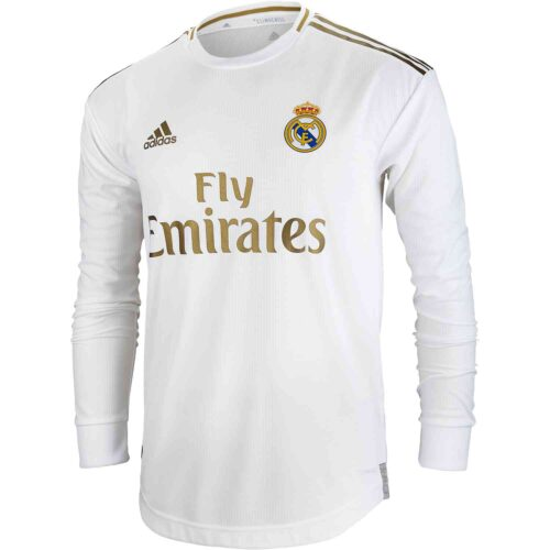 2019/20 adidas Real Madrid Home L/S Authentic Jersey