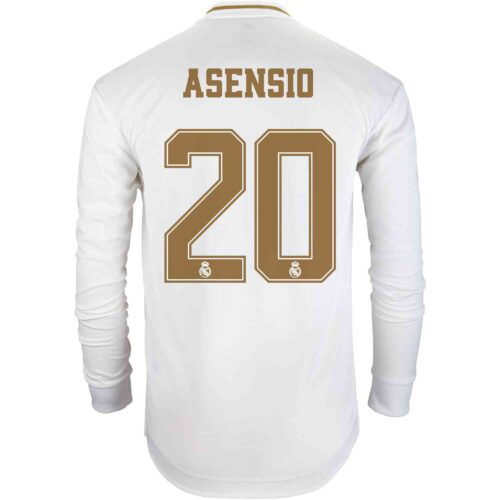 2019/20 adidas Marco Asensio Real Madrid Home L/S Authentic Jersey