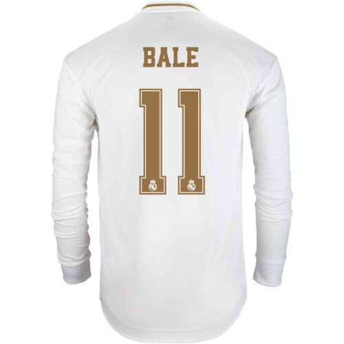 2019/20 adidas Gareth Bale Real Madrid Home L/S Authentic Jersey