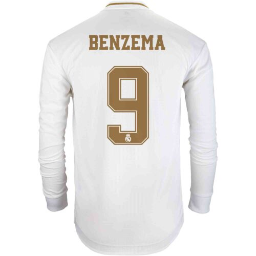 2019/20 adidas Karim Benzema Real Madrid Home L/S Authentic Jersey
