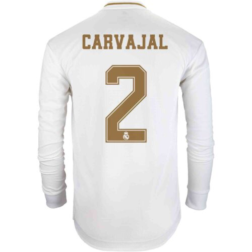 2019/20 adidas Dani Carvajal Real Madrid Home L/S Authentic Jersey