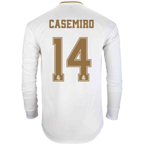 2019/20 adidas Casemiro Real Madrid Home L/S Authentic Jersey
