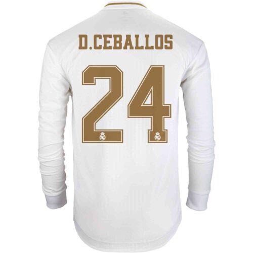2019/20 adidas Dani Ceballos Real Madrid Home L/S Authentic Jersey
