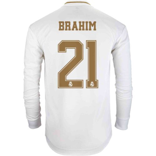 2019/20 adidas Brahim Diaz Real Madrid Home L/S Authentic Jersey