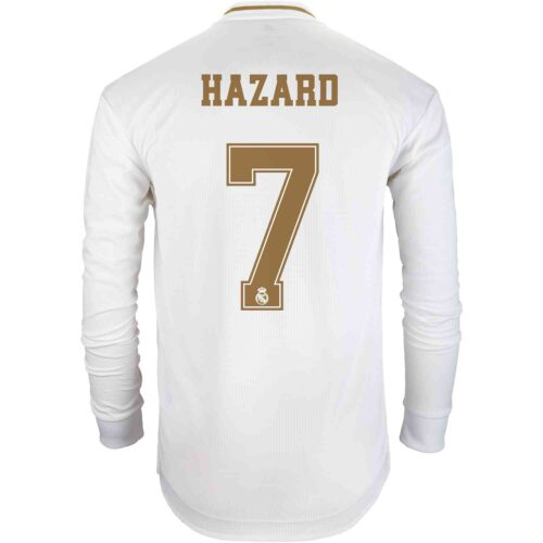 2019/20 adidas Eden Hazard Real Madrid Home L/S Authentic Jersey