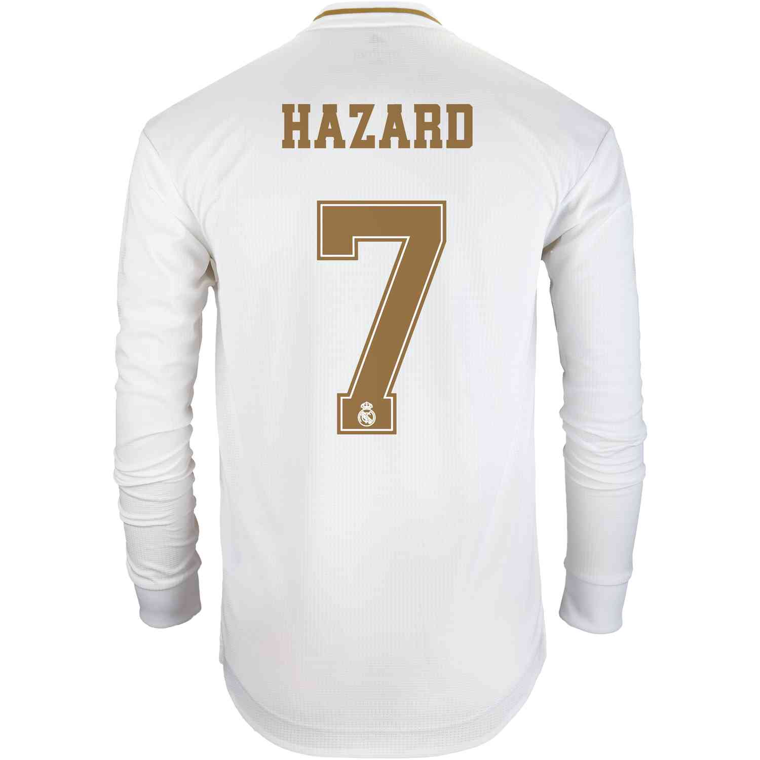 size 40 8be01 729a3 2019/20 adidas Eden Hazard Real Madrid Home L/S Authentic ...
