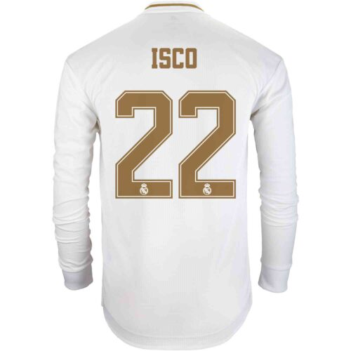 2019/20 adidas Isco Real Madrid Home L/S Authentic Jersey