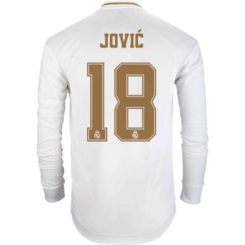 2019/20 adidas Luka Jovic Real Madrid Home L/S Authentic Jersey