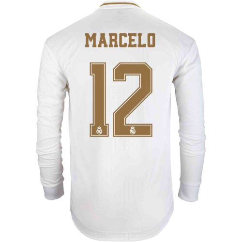 2019/20 adidas Marcelo Real Madrid Home L/S Authentic Jersey