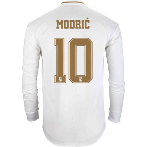 2019/20 adidas Luka Modric Real Madrid Home L/S Authentic Jersey