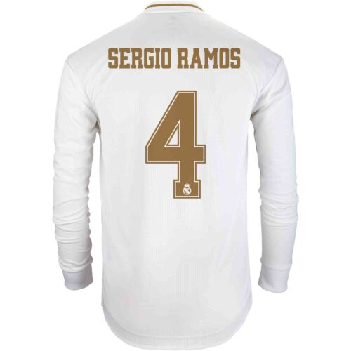 2019/20 adidas Sergio Ramos Real Madrid Home L/S Authentic Jersey