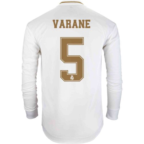2019/20 adidas Raphael Varane Real Madrid Home L/S Authentic Jersey