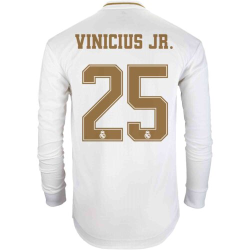 2019/20 adidas Vinicius Jr Real Madrid Home L/S Authentic Jersey