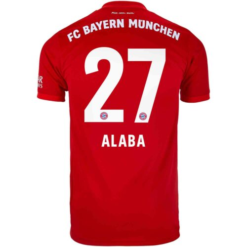 2019/20 adidas David Alaba Bayern Munich Home Jersey