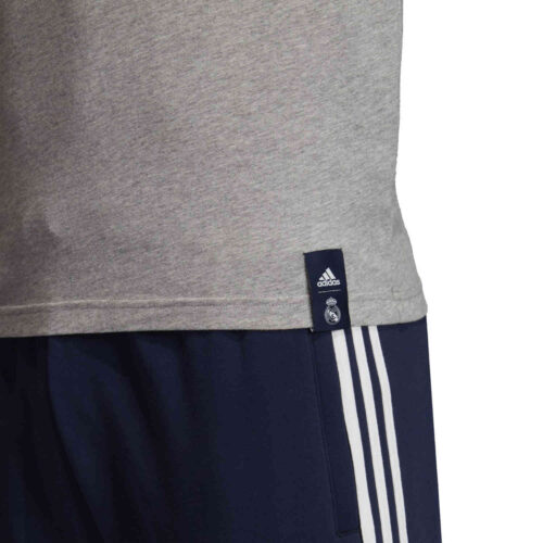 adidas Real Madrid Graphic Tee – Medium Grey Heather/Night Indigo