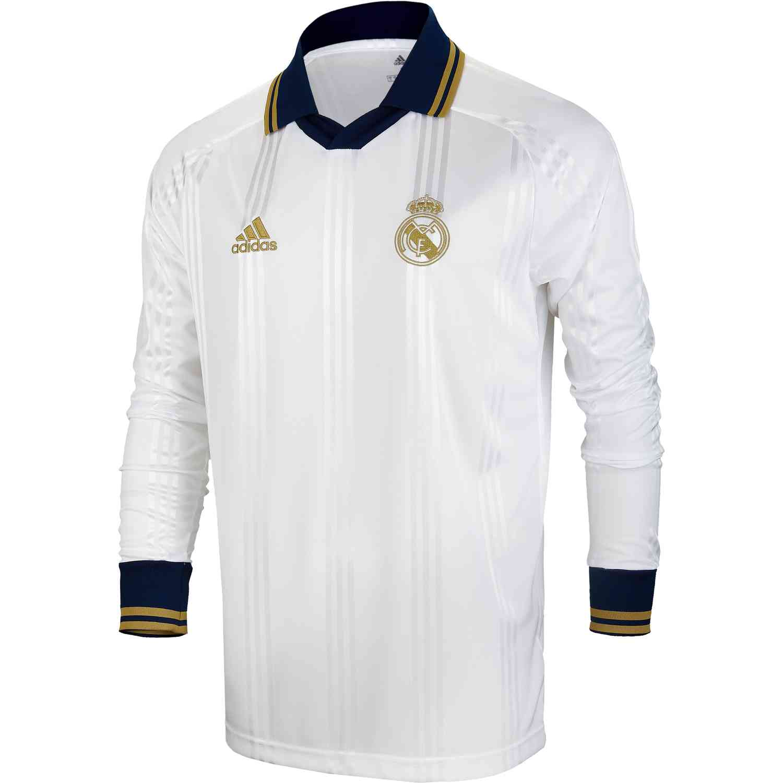 timeless design d9323 ba063 adidas Real Madrid L/S Retro Jersey – White/Black