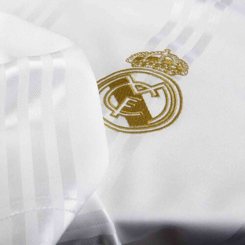 adidas Real Madrid L/S Retro Jersey – White/Black