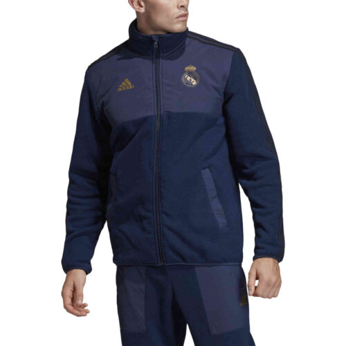 adidas Real Madrid Fleece Jacket – Night Indigo/Black/Dark Football Gold