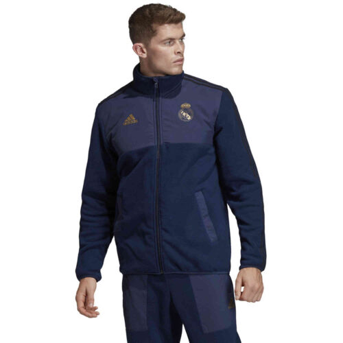 adidas Real Madrid Fleece Jacket – Night Indigo/Black/Dark Football Gold