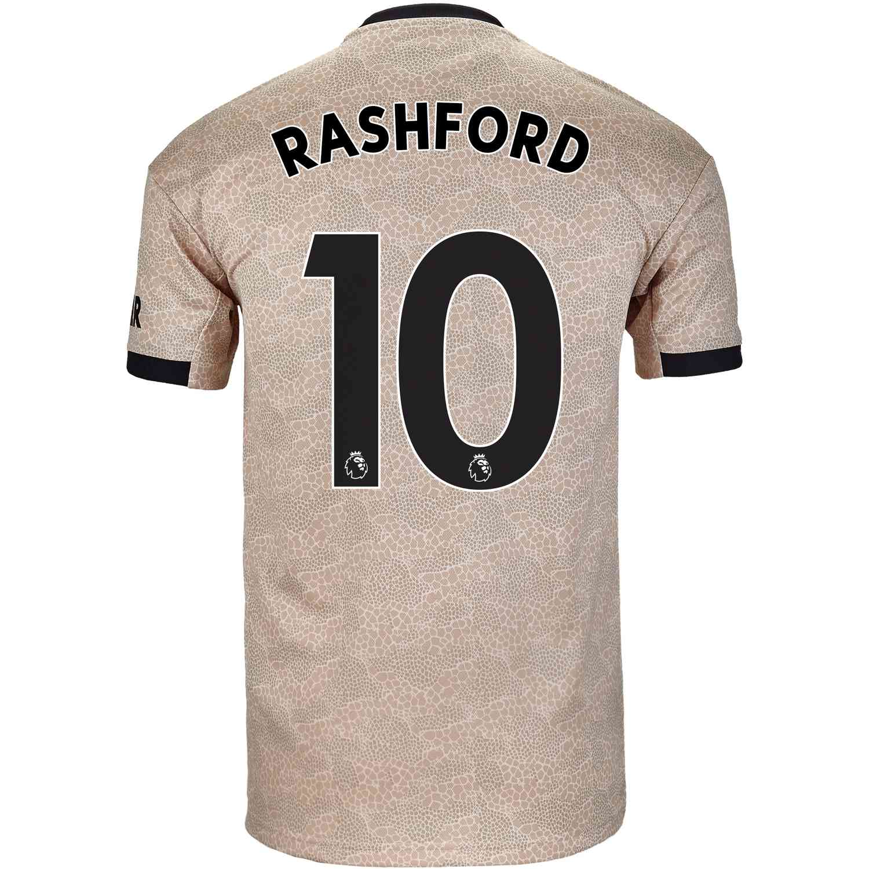 2019 20 Kids Adidas Marcus Rashford Manchester United Away Jersey Soccerpro