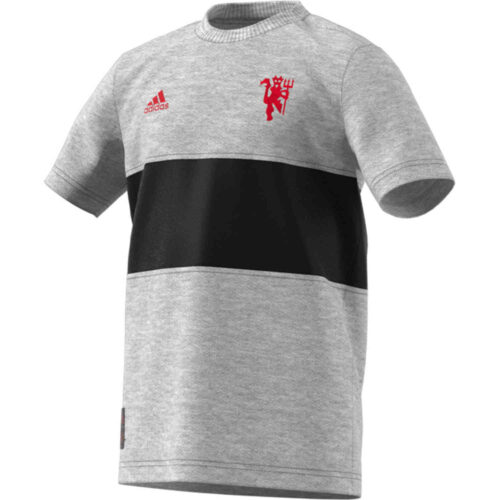 Kids adidas Manchester United Graphic Tee – Medium Grey Heather