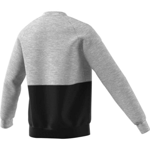 Kids adidas Manchester United Crew Sweatshirt – Medium Grey Heather
