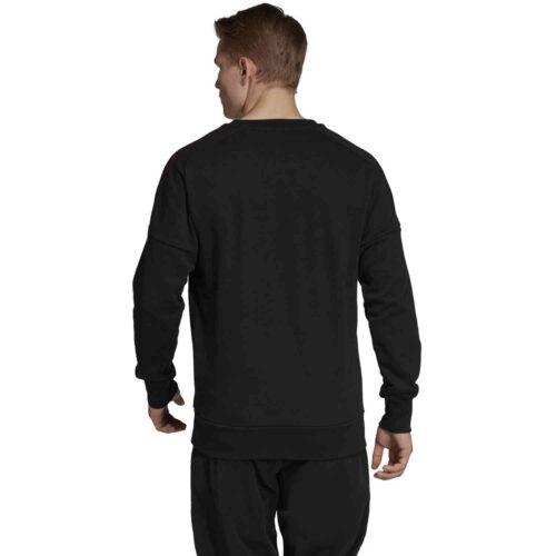 adidas Manchester United Crew Sweatshirt – Black