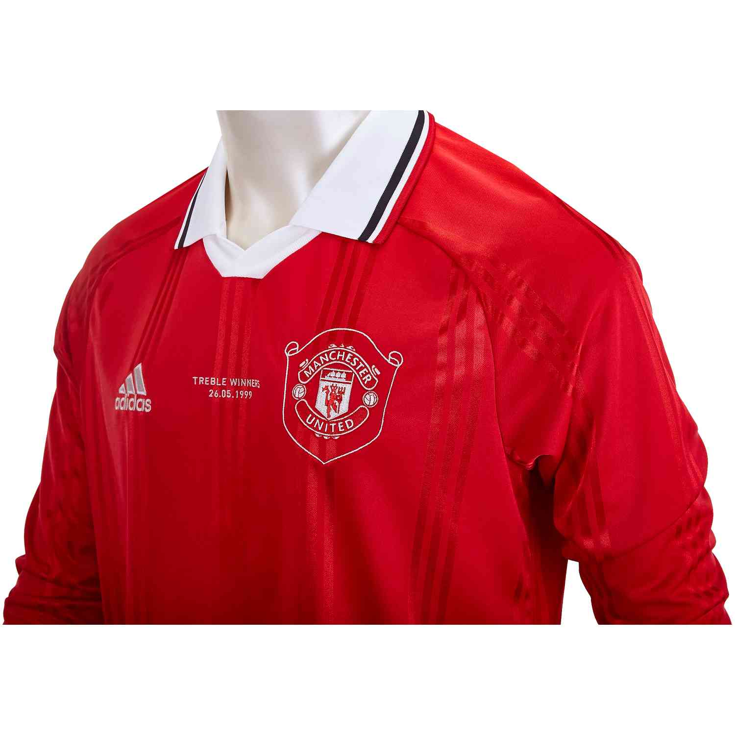 quality design 525d2 51487 adidas Manchester United L/S Retro Jersey - Real Red - SoccerPro