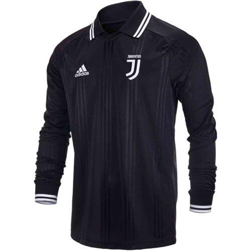 adidas Juventus L/S Retro Jersey – Black