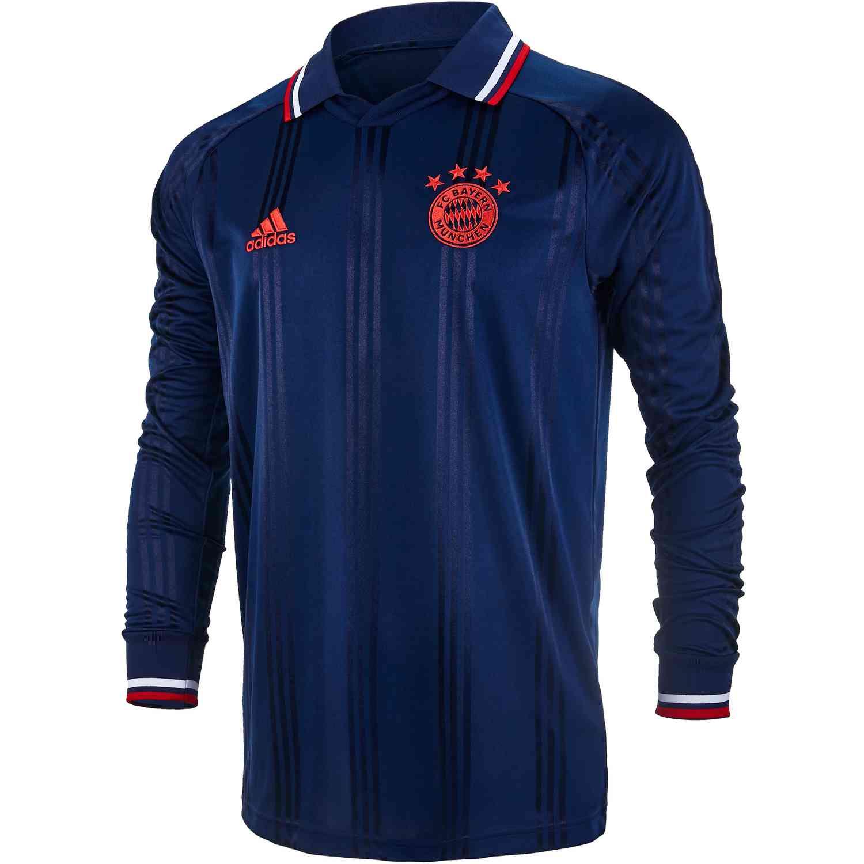 buy popular a7586 1b775 adidas Bayern Munich L/S Retro Jersey – Collegiate Navy/FCB True Red