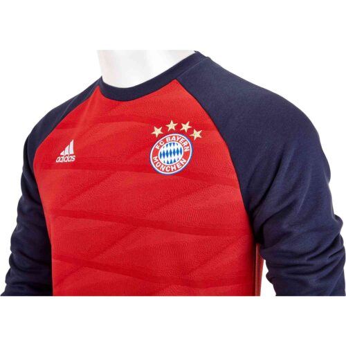 Kids adidas Bayern Munich Crew Sweatshirt – FCB True Red/Night Navy