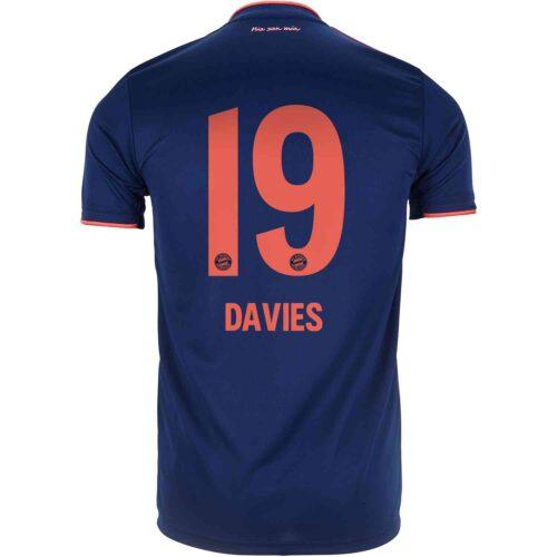 2019/20 Kids adidas Alphonso Davies Bayern Munich 3rd Jersey