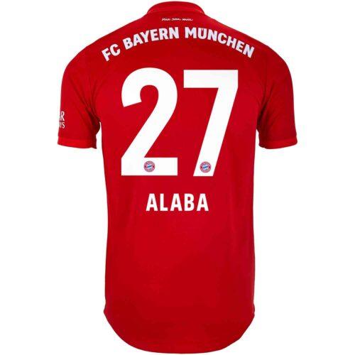 2019/20 adidas David Alaba Bayern Munich Home Authentic Jersey