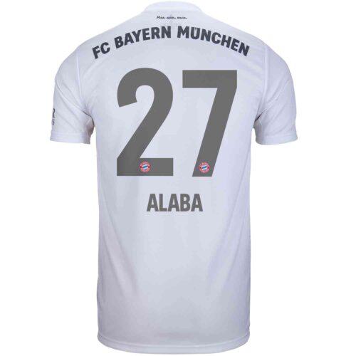 2019/20 Kids adidas David Alaba Bayern Munich Away Jersey