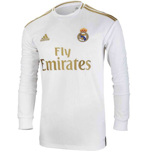 2019/20 adidas Real Madrid Home L/S Jersey