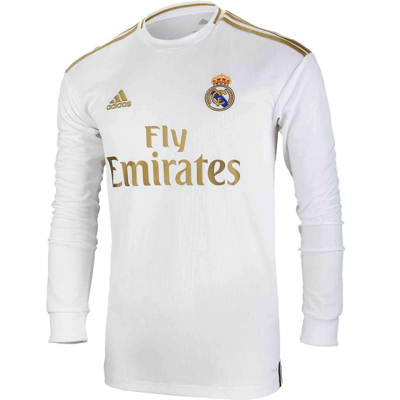 2019/20 adidas Real Madrid Home L/S Jersey - SoccerPro