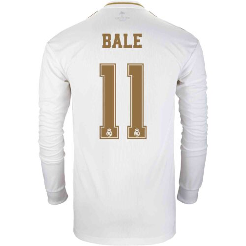 2019/20 adidas Gareth Bale Real Madrid Home L/S Jersey