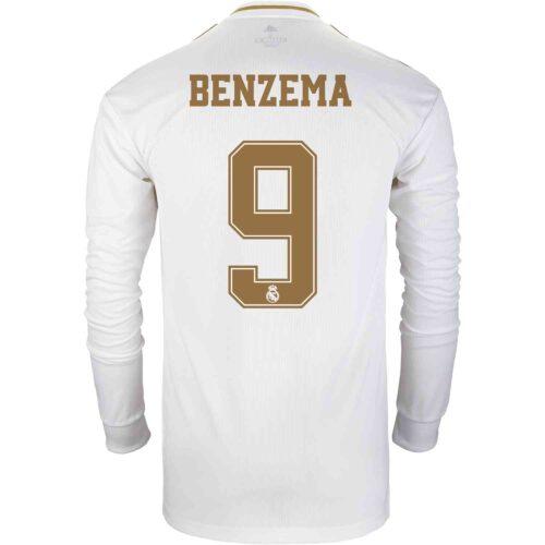 2019/20 adidas Karim Benzema Real Madrid Home L/S Jersey