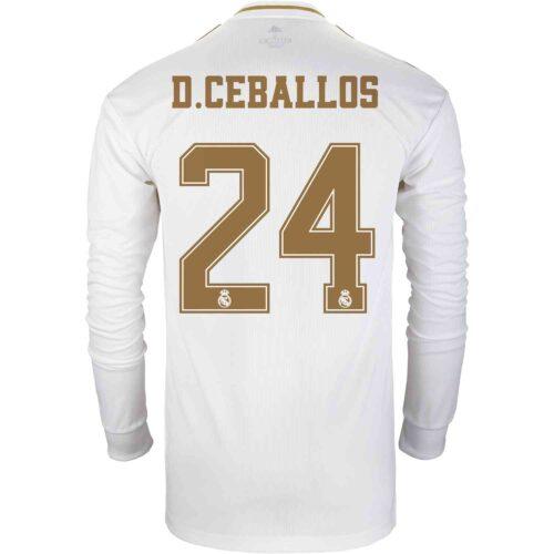 2019/20 adidas Dani Ceballos Real Madrid Home L/S Jersey