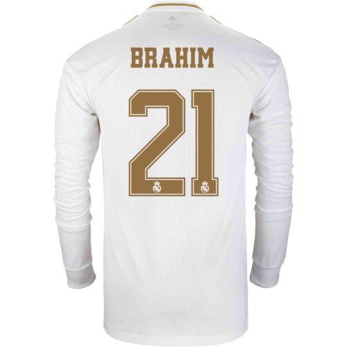 2019/20 adidas Brahim Diaz Real Madrid Home L/S Jersey