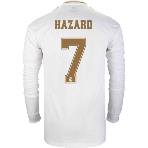 2019/20 adidas Eden Hazard Real Madrid Home L/S Jersey